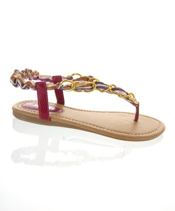 Fuchsia Infinity Ring Sandal