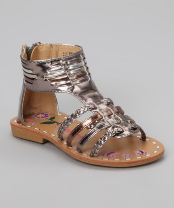 Pewter Two-Tone Gladiator Sandal