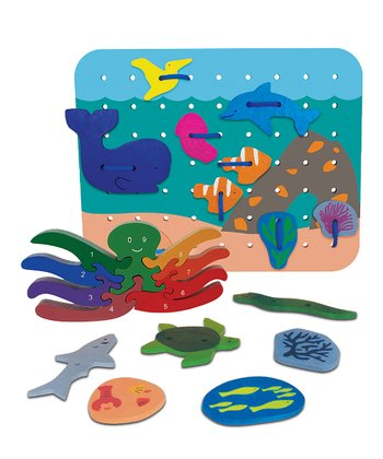 Octopus Counting Puzzle & Ocean Lacing Scape