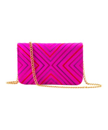 Fuchsia Venezia Silk Shoulder Bag