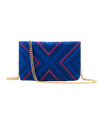 Navy Venezia Silk Shoulder Bag