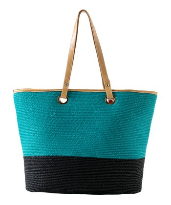 Aqua Color Block Amalfi Tote