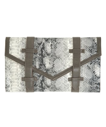 Gray Lexie Clutch