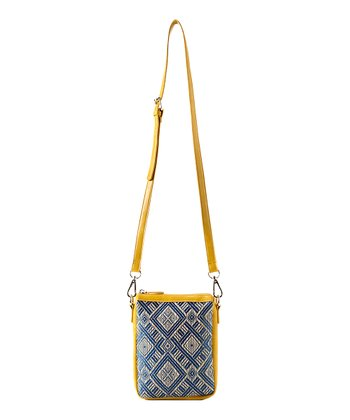 Yellow & Blue Vivi Casual Crossbody Bag