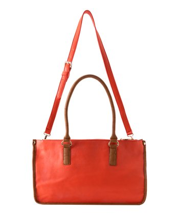 Orange Kensington Satchel