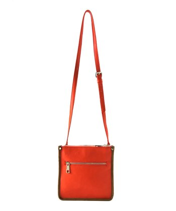 Orange Kensington Crossbody Bag