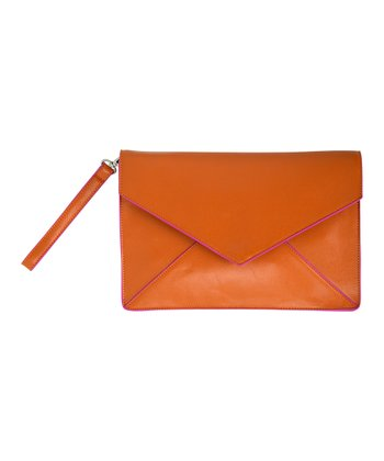 Orange Nadine Clutch