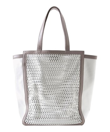 White Naomi Simple Tote
