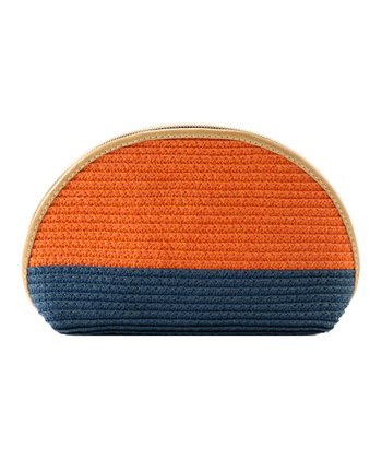 Orange Capri Cosmetic Bag