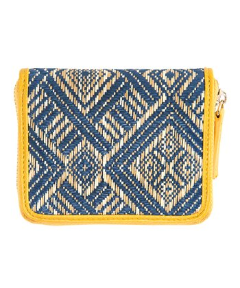 Yellow & Blue Vivi Mini Wallet