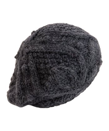 Charcoal Lotta Wool-Blend Beret