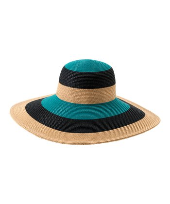 Aqua Stripe Salerno Sun Hat