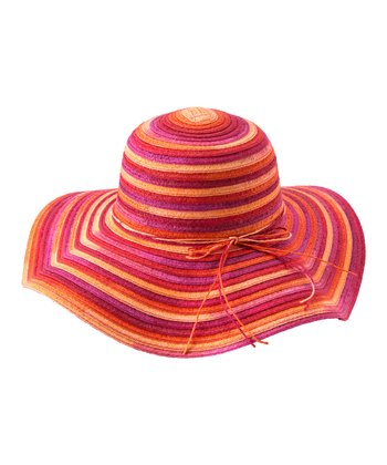 Orange & Pink Alda Sun Hat