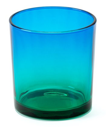 Blue & Green Small Sunset Candleholder - Set of Four