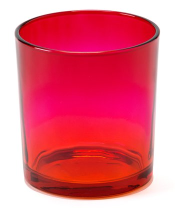 Red & Pink Small Sunset Candleholder - Set of Four