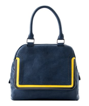 Navy Kim Satchel
