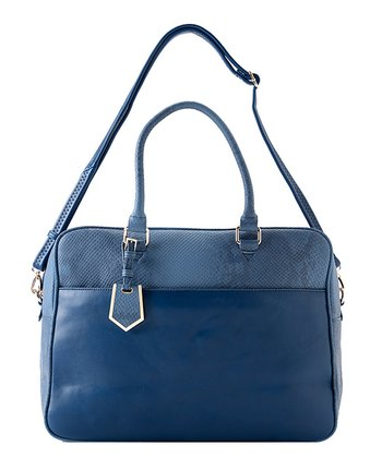 Navy Ava Large Satchel