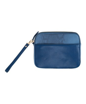 Navy Ava Wristlet/Tech Case