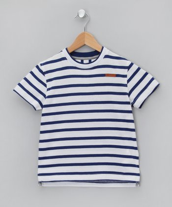Bleu Stripe Tee - Boys