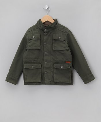 Olive Brulee Pocket Jacket - Boys