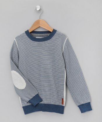 Bleu Stripe Sweater - Boys
