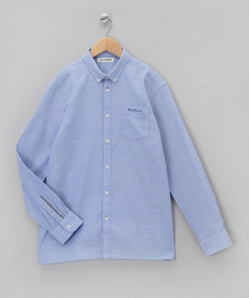 Dusty Blue Button-Up - Boys