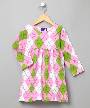 Argyle Brights Tee Dress - Infant, Toddler & Girls
