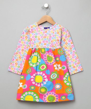 Flower Power Contrast Tee Dress - Infant, Toddler & Girls