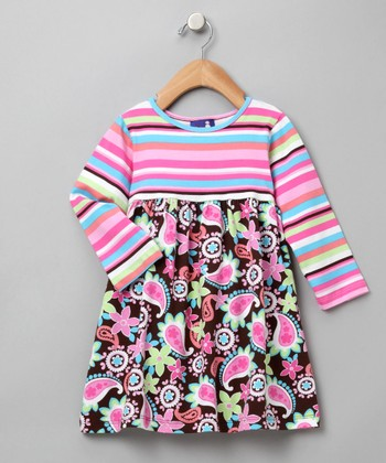 Paisley Party Contrast Tee Dress - Infant, Toddler & Girls