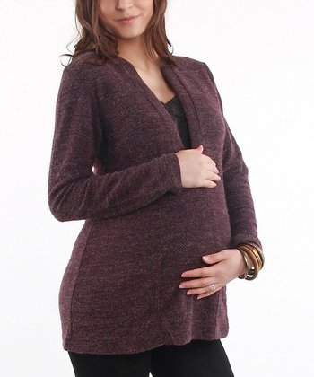 Eggplant Maternity & Nursing Sweater - Women