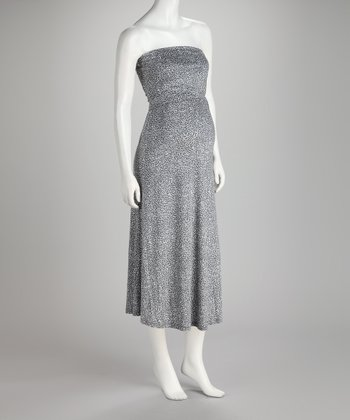 Gray Aubrey Maternity & Nursing Dress - Women