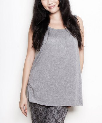 Gray Maternity & Nursing Tank - Women