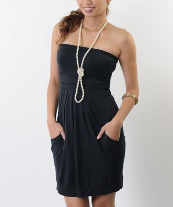Black Tabitha Maternity & Nursing Dress - Women