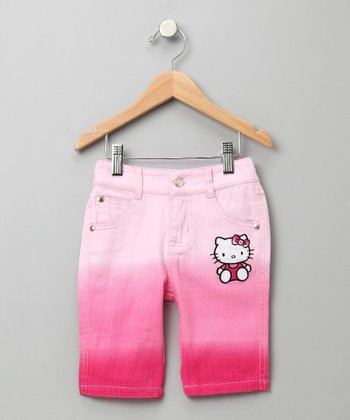 Hello Kitty - Pink Dip-Dye Bermuda Shorts 5