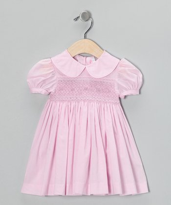 Emily Lacey Pale Pink Smocked Dress - Infant