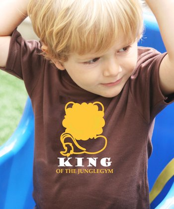 Brown 'King of the Junglegym' Tee - Toddler & Kids