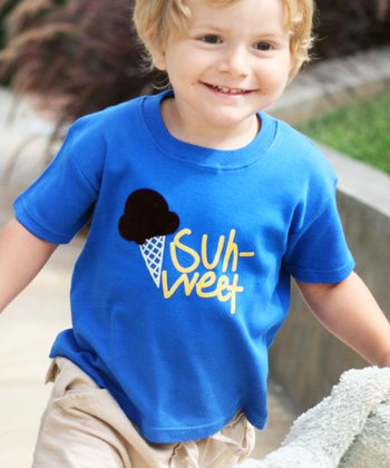 Blue 'Suh-Weet' Tee - Toddler & Kids