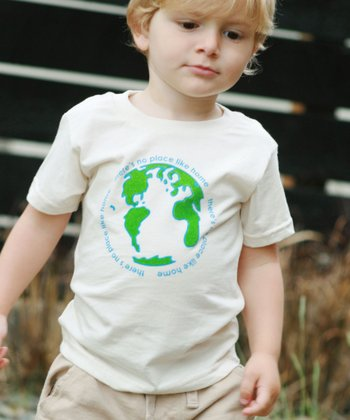 White & Blue 'Home' Tee - Toddler & Kids