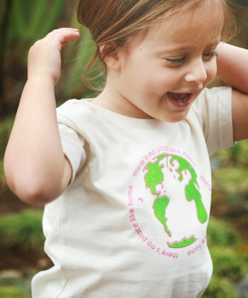 White & Pink 'Home' Tee - Toddler & Kids