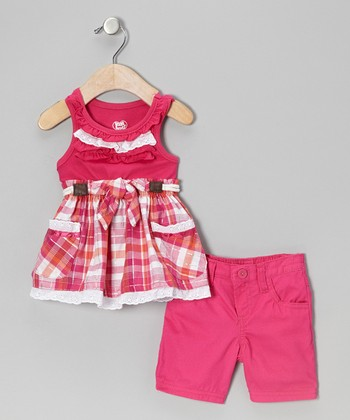 Pink Ruffle Tunic & Shorts - Infant