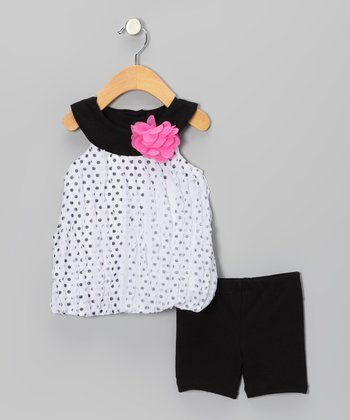 Black Bubble Tunic & Shorts - Infant & Toddler