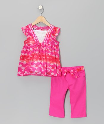 Fuchsia Tunic & Pants - Toddler