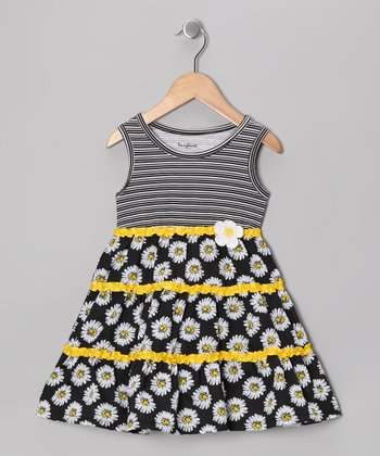 Black Daisy Dress - Infant