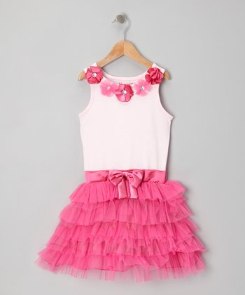 Pink & Pastel Pink Tutu Dress - Girls