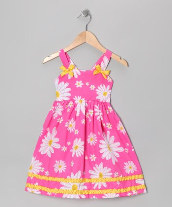 Pink Daisy Dress - Girls