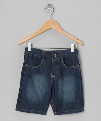 Light Fade Denim Shorts - Boys
