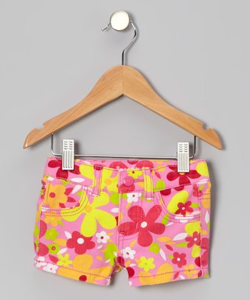 Pink Daisy Shorts - Toddler
