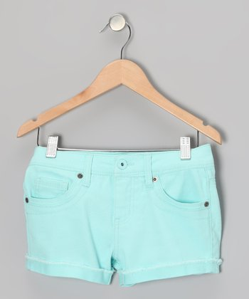 Neon Mint Candy Shorts