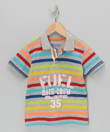 Stripe 'Fuel' Polo - Boys