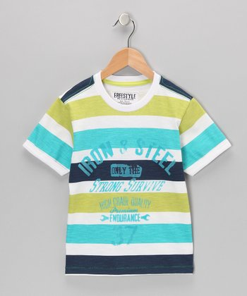 Stripe 'Iron & Steel' Tee - Boys